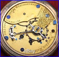 1885 Hampden Grade 36 18s 15j Pocket Watch RAILROAD Hunter Parts/Repair