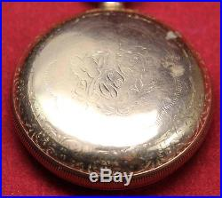 1899 Illinois Bunn Special 18s 21j Pocket Watch Railroad GF Parts/Repair