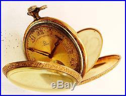 1920 Art Deco Omega 15J Pocket Watch 15 jewels unique dial for parts or repair