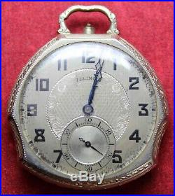 1927 Illinois Grade 405 12s 17j Pocket Watch with Fancy Case Parts/Repair