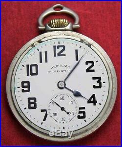 1950 Hamilton 992B 16s 21j Pocket Watch RAILROAD GRADE Parts/Repair