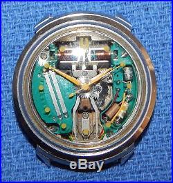 1965 (m5) Bulova Accutron 214 Yellow Dot Spaceview Watch Repair Or Parts