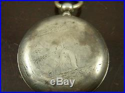 48mm Chinese Qing Dynasty Bovet Chinese Duplex Watch Silver Case/Parts or Repair