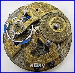 Antique Chinese Duplex Pocket Watch Movement Parts Repair