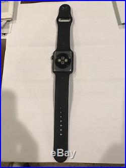 APPLE WATCH SERIES 3 42mm Black Band (LOCKED) PARTS OR REPAIR