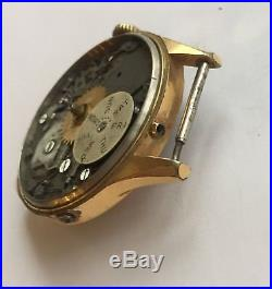 Angelus Caliber 217 Movement And Dial For Parts Or Repair And Case Frame