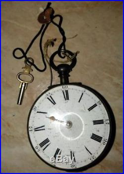 Antique 18th century Key Wind Pocket Watch Gerrard London Silver parts/repair NW