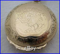 Beautiful Fancy Antique 18s Gold Filled Box Hinge Pocket Watch Case Parts Repair