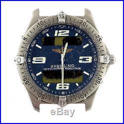 Breitling Mens Aerospace E75362 Digital/analog Blue Dial Parts+repairs Project
