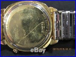 BULOVA ACCUTRON Astronaut Mark IV 14K Gold Filled Men's Watch F127 PARTS/REPAIR
