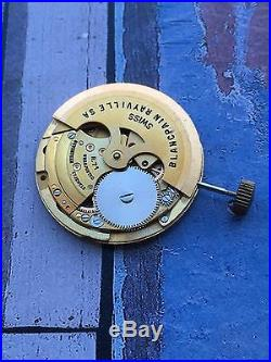 Blancpain R-71 Automatic Watch Movement Full And Working Parts Repair