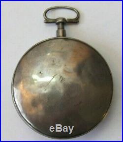 Breguet A Paris Silver Verge Fusee Pocket Watch For Parts/repair