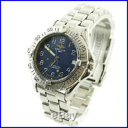 Breitling Colt A17035 Blue Dial Auto 300m Stainless Steel Watch For Parts/repair