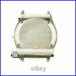 Breitling E56321 Emergency Orange Dial Chrono Titanium Watch For Parts+repairs