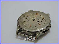 CHRONOGRAPH, DIAL OMEGA, MOVEMENT LEMANIA 15 for parts or repair