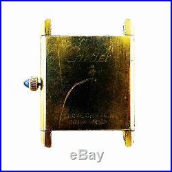 Cartier Tank Vermeil Beige Dial Quartz 18k Gold Plated Watch For Parts/repairs