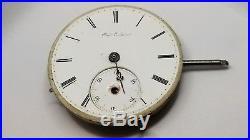 Charles E Jacot High Grade Pocket Watch Movement 35 mm 1872 parts repair F2347