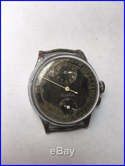Cortebert Pulsometre / Doctor Chronograph Venus 140 ref 6052 for parts/repair