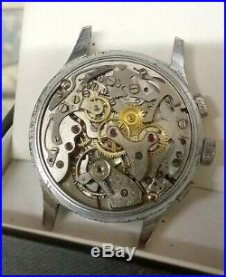 DELBANA VINTAGE CHRONOGRAPH MECHANICAL MOVEMENT FOR SPARES OR REPAIR in part cas