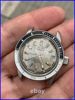 Diver Wertex Submarine Automatic Original Dial Running For Parts Repair Vintage
