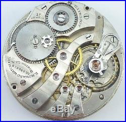 E. Howard Series 7 Pocket Watch Movement Spare Parts / Repair