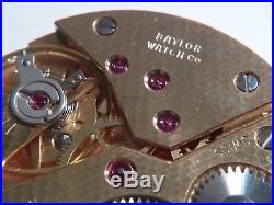 ETA UTE UNITAS 6498 MOVEMENT MECHANICAL, Baylor for parts/repair YELLOW nostem