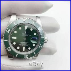 Fit 3135 movement 904L case kit watch repair parts for fix green submariner