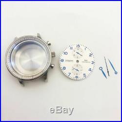 Fit 7750 movement chronograph case kit pilot style watch repair parts