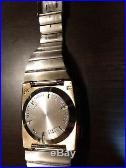 HP-01 Gold Calculator Watch Model 1 Hewlett Packard HP-1 for Parts or Repair