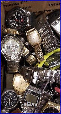 HUGE! Vintage-now Watch Lot 28LBS Parts/Repair/Repurpose WoW. 99