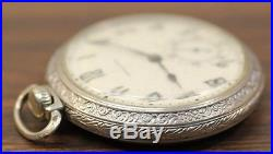 Hamilton 16S 974 Silver Pocket Watch - Parts / Repair