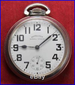 Hamilton 670 Traffic Special 16s 17j Pocket Watch OF Case Parts/Repair
