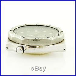 Heuer 1000 980.004 Black Dial Stainless Steel Watch Head For Parts Or Repairs