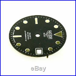 Heuer 1000 Series Professional 200m Black Dial For Parts Or Repairs