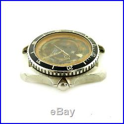 Heuer 1000 Vintage 980.007 Diver Stainless Steel Watch Head For Parts Or Repairs