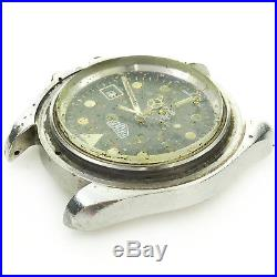 Heuer 1000 Vintage Diver 844 Monnin S. S. Head Made In France For Parts/repairs