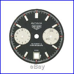 Heuer Autavia Black Dial For Parts And Repairs