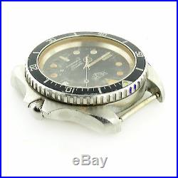 Heuer Diver 980.006 1000 Series Prof Black Dial S. S. Watch Head For Parts/repair