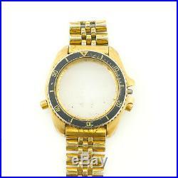Heuer Vintage Diver 1000 Gold Plated S. S. Case +partial Bracelet Parts/repairs