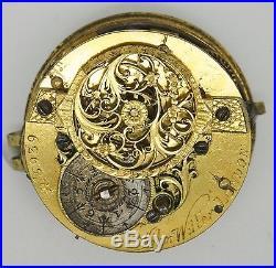 John Wilter London Import Verge Pocket Watch Movement Spares Or Repair S214