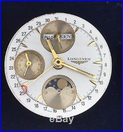 Longines Movement Chronograph Valjoux 7751 Not Working For Parts Repair