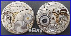 Lot Of 6 1941-1948 Elgin 12s 15/21j Pocket Watch Movements OF Parts/Repair