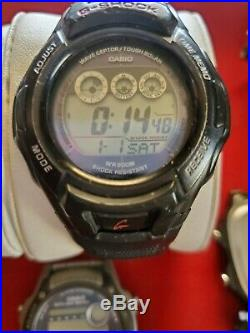 Lot Of 6 Casio G-shock And 4 Casio Wristwatches For Parts Or Repair