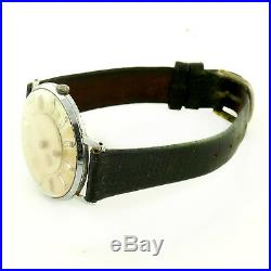 Louvic De Luxe Vintage Mystery Hands Beige Dial S. S Mens Watch For Parts/repairs