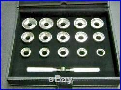 New! 15 Dies Watch Case Back Opener Kit for Breitling Repair Tool