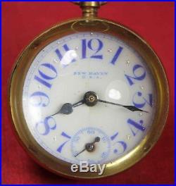 New Haven Paperweight Glass Ball Desk Clock Pocket Watch Parts/Repair