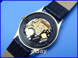 OMEGA 18KGP/Steel Gold Pattern Dial Quartz (Repair Or Parts)