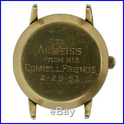 Omega Automatic Vintage Gold Mens Watch Head For Parts Or Repairs