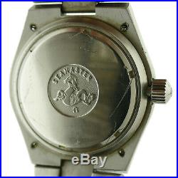 Omega Electronic Seamaster Chrono Black Dial S. S. Watch For Parts Or Repairs