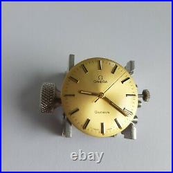 Omega Geneve dial, movement cal. 601 working well for parts, repair, project